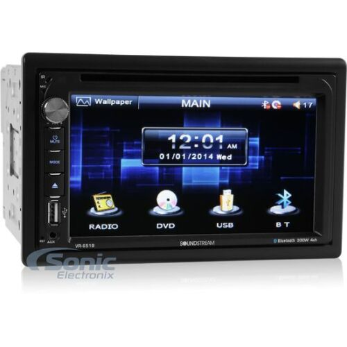 SOUNDSTREAM Double 2 DIN Bluetooth DVD/CD Car Stereo w/ TouchScreen | VR-651B