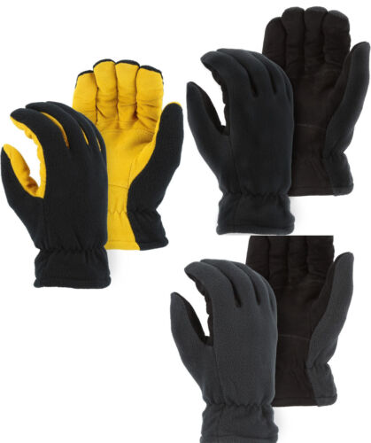 WARM WINTER THERMAL HIGH TECH HEATLOK INSULATED WINDPROOF GLOVES-DEERSKIN SUEDE