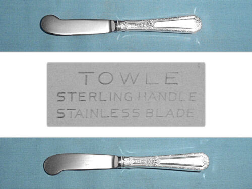 """TOWLE STERLING 6"""" HOLLOW HANDLE BUTTER PADDLE(S) ~ LOUIS XIV ~ NO MONO"""