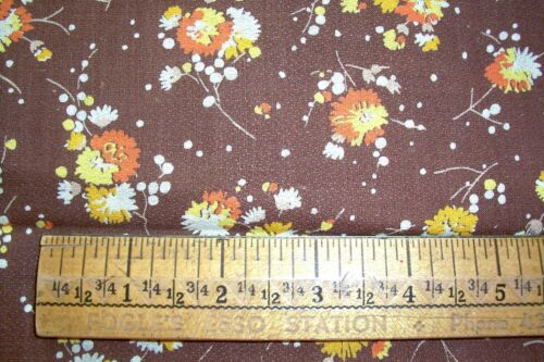 Vtg 40's Cotton Applique Quilt Doll Dress Fabric Chrysanthemum