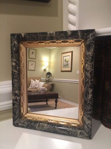 Antique 19th Century EASTLAKE Wall Mirror Painted Wood