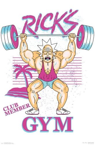 RICK AND MORTY - RICK'S GYM POSTER 22x34 - TV SHOW 16424