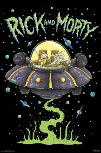 RICK AND MORTY - SHIP POSTER 22x34 - TV SHOW 16427
