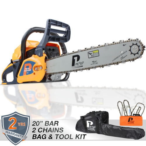 """🟠 Petrol Chainsaw 20"""" bar 62cc Powered by 🔵 HYUNDAI 🔵 Easy Start x 2 chains <br/> 🌍 FOR EVERY PURCHASE WE WILL PLANT 1 TREE 🌱"""