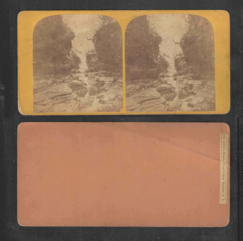 THE ARTISTS DREAM FREERS GLEN WATKINS NY ANTIQUE STEREOVIEW CARD