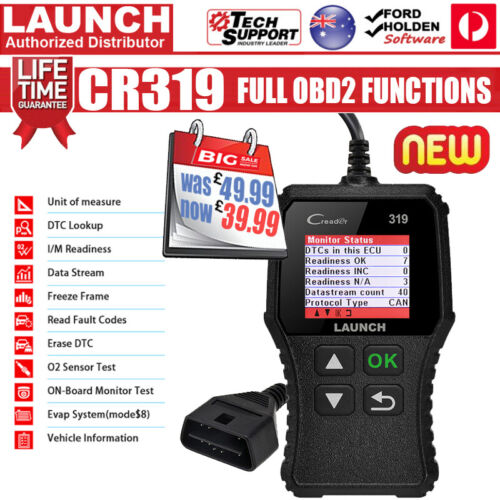 LAUNCH OBD2 EOBD Car Fault Code Reader Scanner Diagnostic Auto Engine Scan Tool <br/> ⭐⭐⭐⭐⭐ 10000+ SOLD ✔️ Authorized Distributor ✔️ CR319