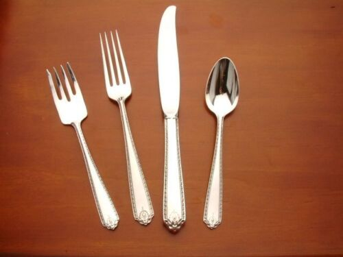 Lady Hilton by Westmoreland Sterling Silver 4pc Place Setting, Modern Blade
