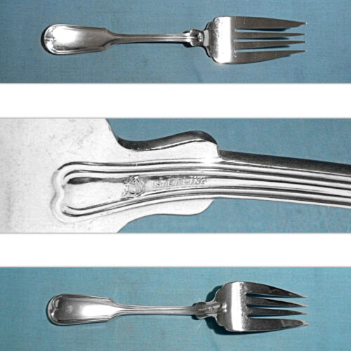 FRANK SMITH STERLING SERVING FORK ~ FIDDLE THREAD ~ NO MONO