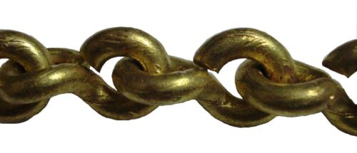 20 feet Marine SOLID BRASS CHAIN - 10 Gauge - 3.25 mm - HEAVY weight (5212)