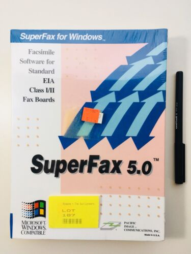 Vintage PC Software Superfax 5.0, Brand New & Factory Sealed, Original Packaging