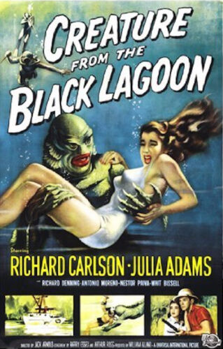 CREATURE FROM THE BLACK LAGOON - CLASSIC MOVIE POSTER 24x36 - 52827