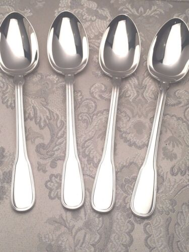 Gramercy Sterling Silver by Tiffany & Co. group of 4 Oval Soup/ Dinner Spoons