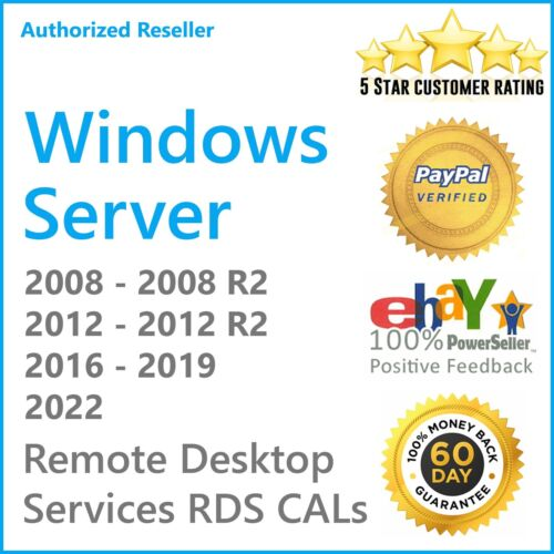 Remote Desktop License For Windows Server 2019➖2016➖2012 R2➖2008 R2 RDS RDP CALs