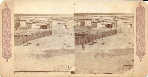 BW  Stereoview – Colorado River and Ehrenburg Arizona c1880-90s