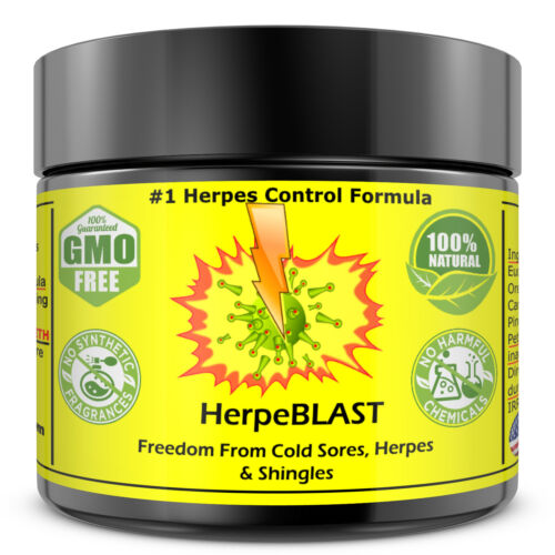 Herpes Treatment Cream Lips Genital Blister Cold Sore Shingles HerpeBLAST <br/> #1 Selling Herpes Cream Worldwide & on eBay 100%NATURAL