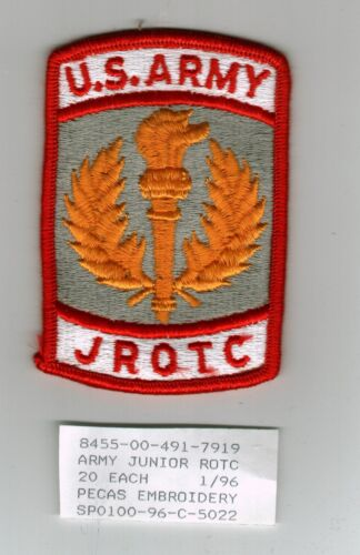 U.S. ARMY JROTC PATCH FULL COLOR - K6Other Militaria - 135