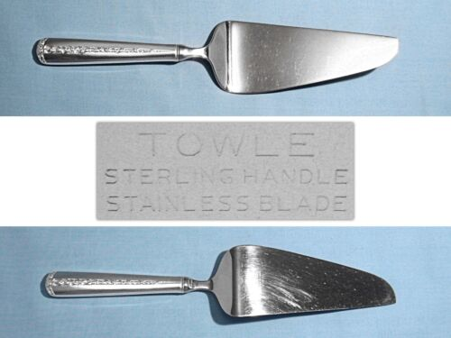TOWLE STERLING HOLLOW HANDLE PIE & CAKE SERVER ~ RAMBLER ROSE ~ NO MONO