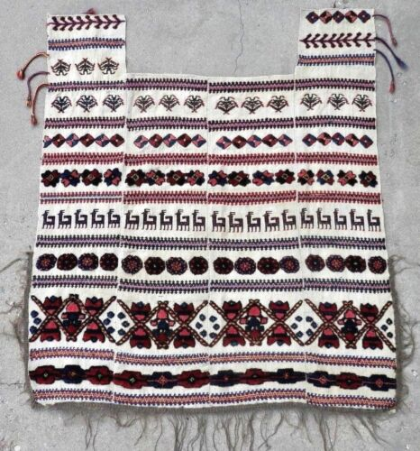 Pre 1900 Antique NWP Tribal SHAHSAVAN Horse Cover. Natural Dyes. A+ Cond. Super!