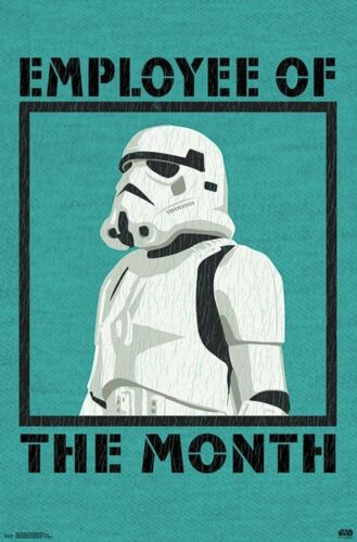 STAR WARS - EMPLOYEE OF THE MONTH POSTER - 22x34 - STORMTROOPER HUMOR 16920