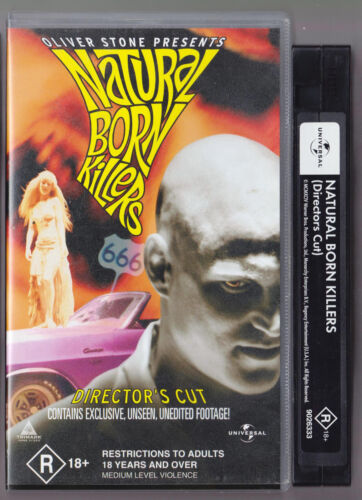 NATURAL BORN KILLERS Director's Cut VHS VIDEO TAPE