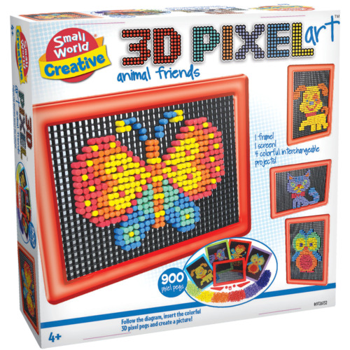 3D PIXEL ART ANIMAL FRIENDS Small World Toys craft set create picture pixel pegs