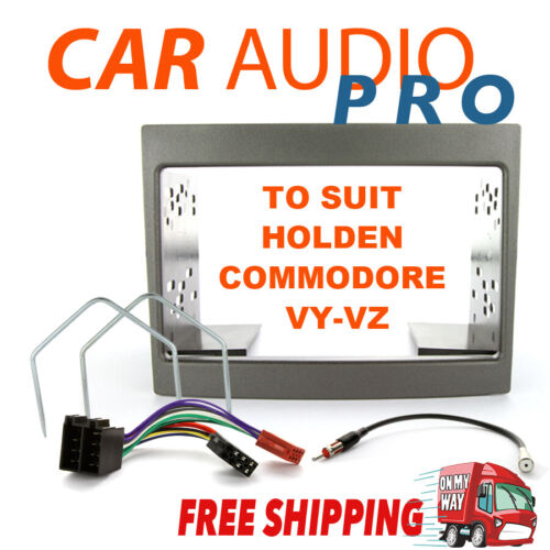COMPLETE DOUBLE DIN INSTALL KIT FOR HOLDEN COMMODORE VY VZ GREY