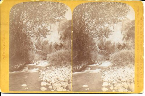 Powell & Thompson Survey Stereoview Colorado River 1871 Mouth of Ashley Creek UT