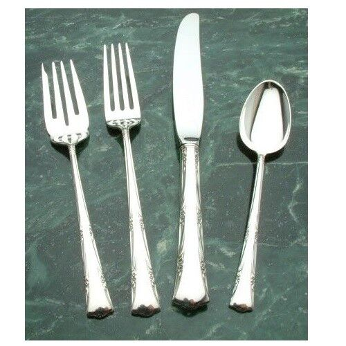 Greenbrier by Gorham Sterling Silver 1, 4 piece Place Setting, Luncheon Modern