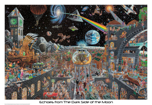ECHOES FROM THE DARK SIDE OF THE MOON - MASSE ART POSTER 22x34 PINK FLOYD 715