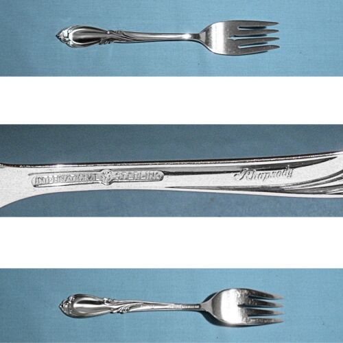 INTERNATIONAL STERLING SALAD FORK(S) ~ RHAPSODY ~ NO MONO