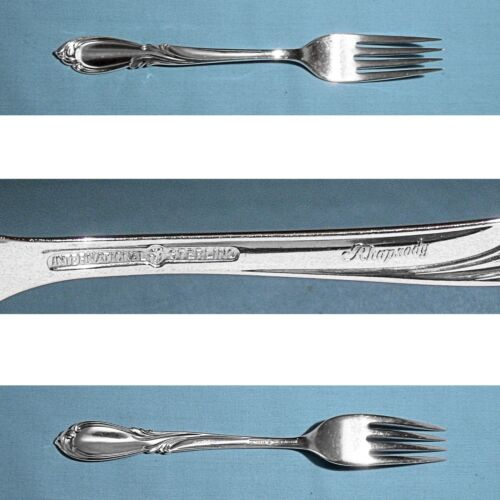 "INTERNATIONAL STERLING 7 1/4"" FORK(S) ~ RHAPSODY ~ NO MONO"