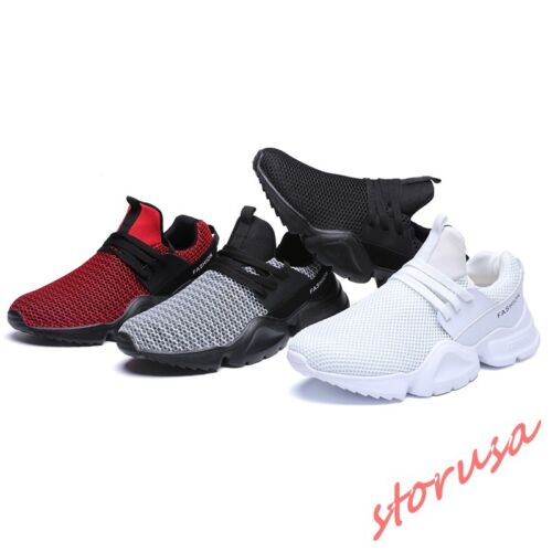 Stylish Mens Breathable Jogging Sport Shoes Lace Up Casual Sneakers Size  EU39-46 1d0b4ded7ad
