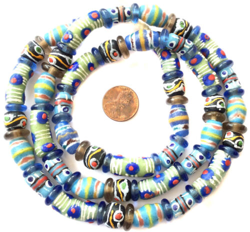 African mixed recycled Glass Ghana African Trade Beads-Ghana