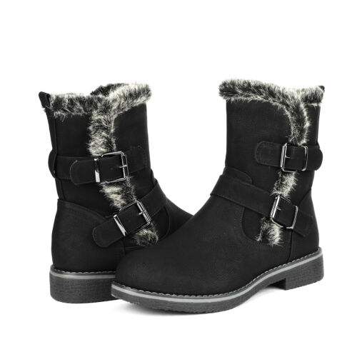 DREAM PAIRS Women FRANCA Knee High Low Hidden Wedge Boots (Wide-Calf Available)