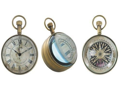 Eye Of The Time Magnifying Clock Nautical Antique Reproduction Authentic Model