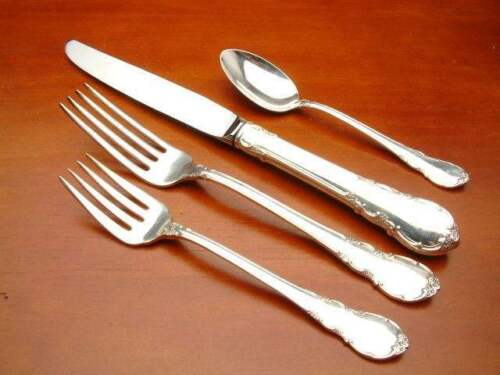 Modern Victorian by Lunt Sterling Silver individual 4 Piece Place Setting
