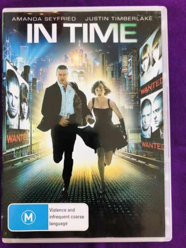 In Time. DVD. (2011). Amanda Seyfried. Region 4. Very Good Condition.