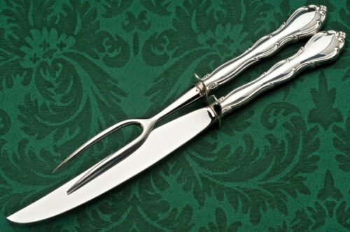 Fontana by Towle 2 piece Carving Knife and Fork Set , Sterling Handle