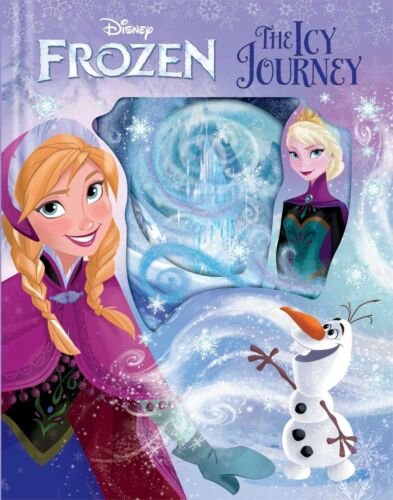 Disney Frozen Anna Elsa Story Book The Icy Journey Hard Cover Birthday Gift