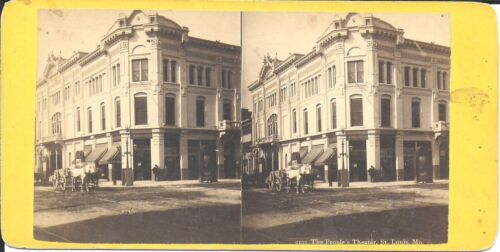 Stereoview of the People's Theater in St Louis Missouri c1890s