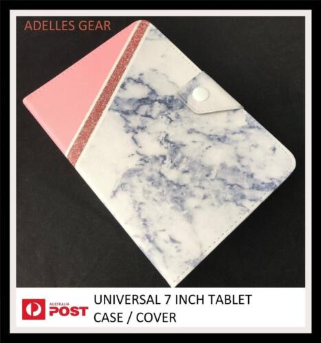 BLING BLING UNIVERSAL 7 INCH ANDROID TABLET CASE SAMSUNG ,PENDO, -MARBLE CHIC