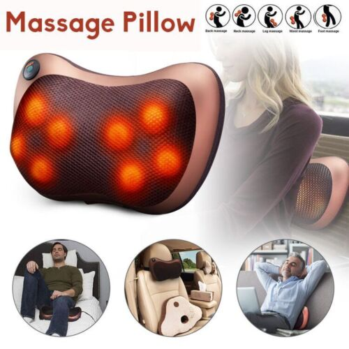 Home Car Shiatsu Massage Pillow Massager Cushion Neck Back Shoulder Body Relief