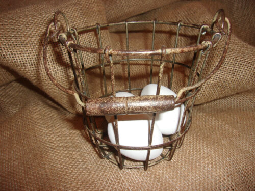 PRIMITIVE*EGG GATHERING BASKET*FARM DECOR*COUNTRY DECOR*CHICKENS*EGGS*NEW