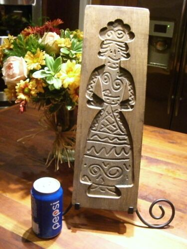 ANTIQUE Spekulatius SPECULAAS Mold COOKIE MOLD SPRINGERLE CARVED WOOD #10