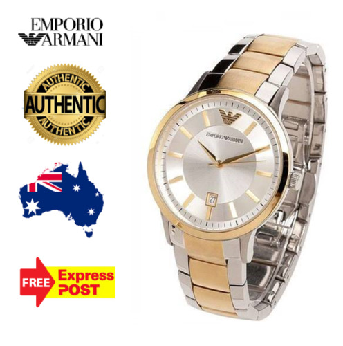 Emporio Armani Mens AR2449 Silver/ gold Dial Two-tone Watch new in boxWristwatches - 31387