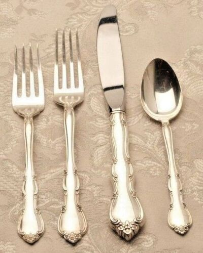 Rose Tiara by Gorham Sterling Silver individual 4 piece Place Setting