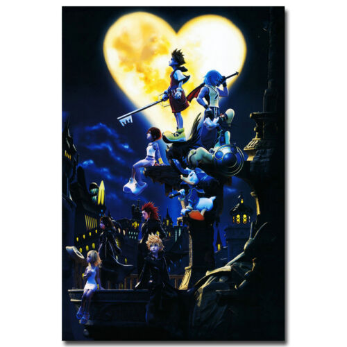Kingdom Hearts 3 Game Art Silk Fabric Wall Poster 13x20 24x36 inches 001