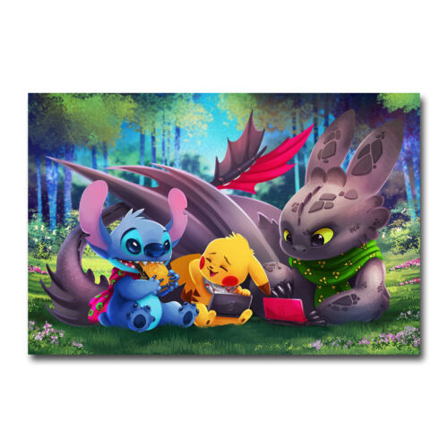 How To Train Your Dragon Movie Art Silk Poster Canvas Print 13x20 24x36 inch