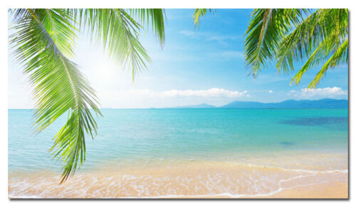 Summer Tropical Beach Sky Nature Seascape Silk Fabric Poster Pring 24x43 inches