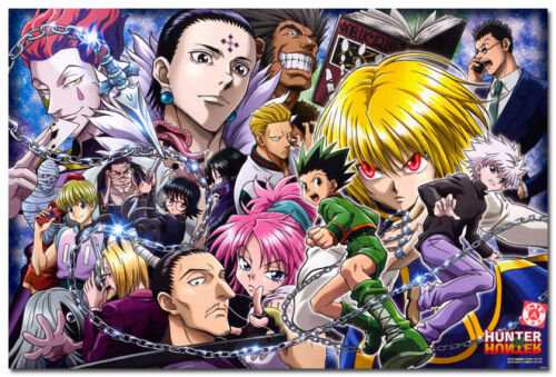 Hunter x Hunter Art Silk Poster Japan Anime Pictures for Wall Decor